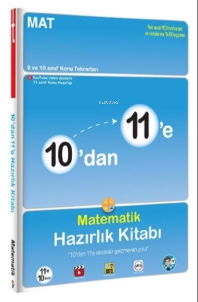 10'dan 11'e Matematik Hazırlık Kitabı - Tonguç