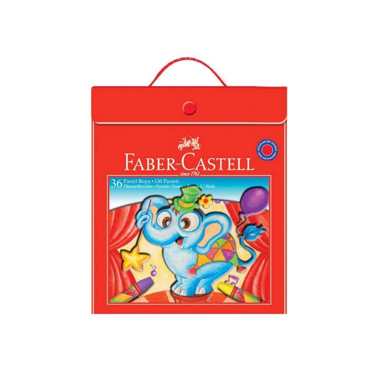 Faber Castell 36 Renk Plastik Çantalı Pastel Boya