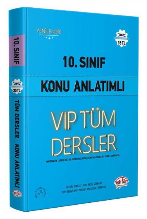 10. Sınıf VIP Tüm Dersler Konu Anlatımlı Mavi Kitap Kampanyalı - Editör