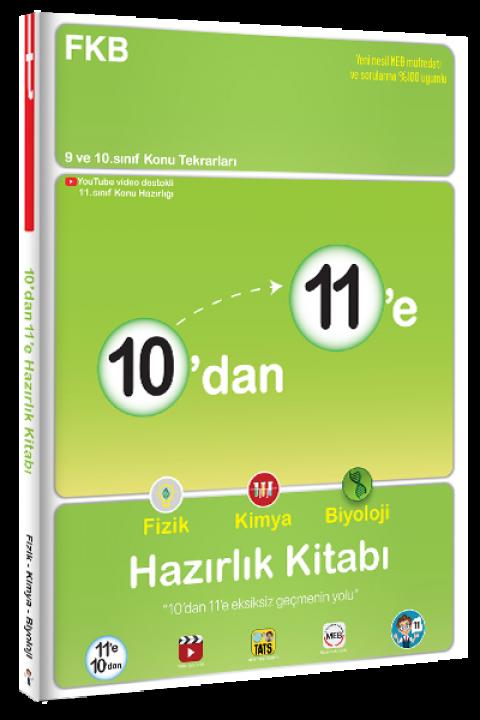 10'dan 11'e Fizik Kimya Biyoloji Hazırlık Kitabı - Tonguç