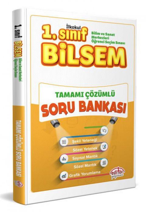 1.Sınıf BİLSEM Tamamı Çözümlü Çözümlü Soru Bankası - Editör