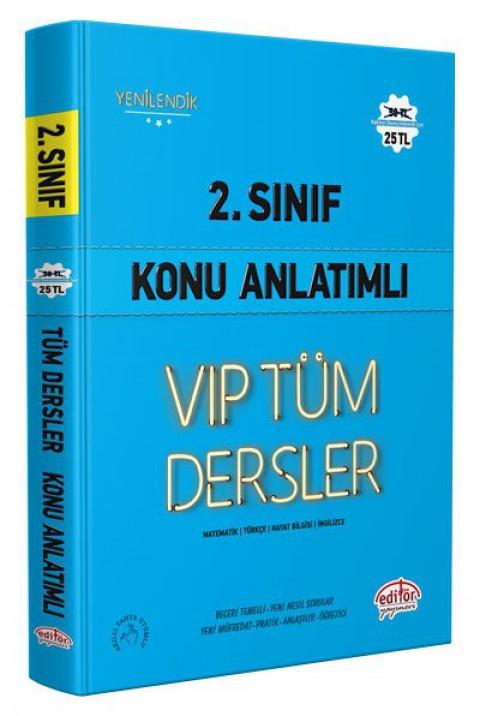 2.Sınıf Vip Tüm Dersler Konu Anlatımlı Mavi Kitap - Editör
