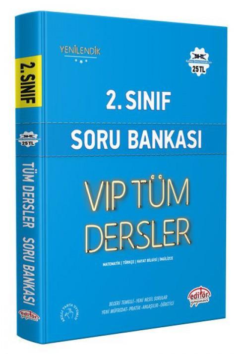 2.Sınıf Vip Tüm Dersler Soru Bankası Mavi Kitap - Editör