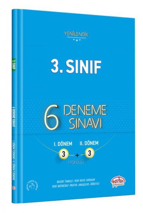 3. Sınıf 6 Fasiküllü 3+3 Deneme - Editör