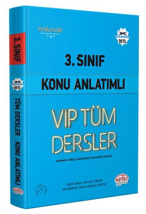 3.Sınıf Vip Tüm Dersler Konu Anlatımlı Mavi Kitap - Editör