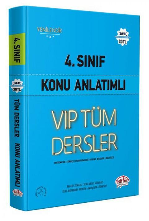 4.Sınıf Vip Tüm Dersler Konu Anlatımlı Mavi Kitap - Editör