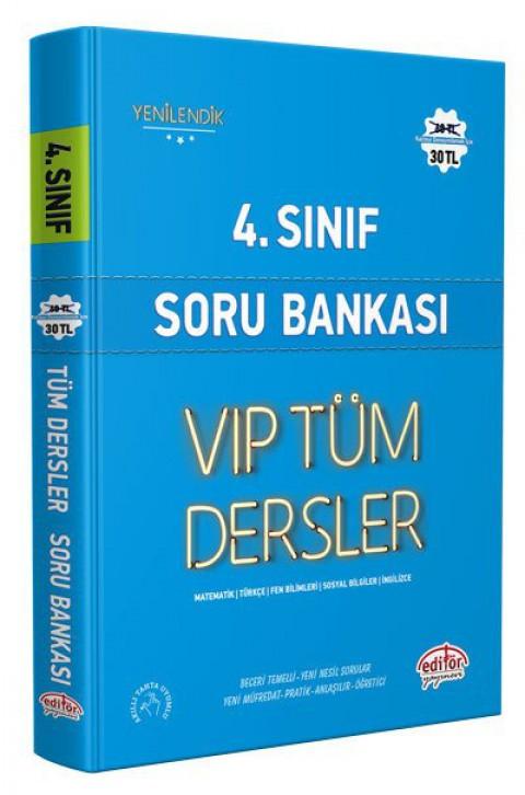 4.Sınıf Vip Tüm Dersler Soru Bankası Mavi Kitap - Editör