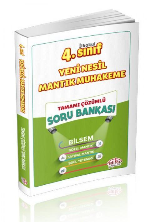 4.Sınıf Yeni Nesil Mantık Muhakeme Tamamı Çözümlü Soru Bankası - Editör