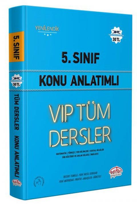 5. Sınıf VIP Tüm Dersler Konu Anlatımlı Mavi Kitap - Editör