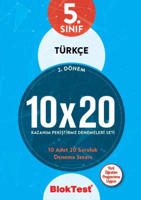 5.Sınıf Bloktest Türkçe 10X20 Kazanım Denemeleri 2. Dönem Bloktest - Tudem