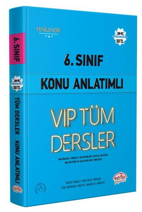 6. Sınıf VIP Tüm Dersler Konu Anlatımlı Mavi Kitap - Editör
