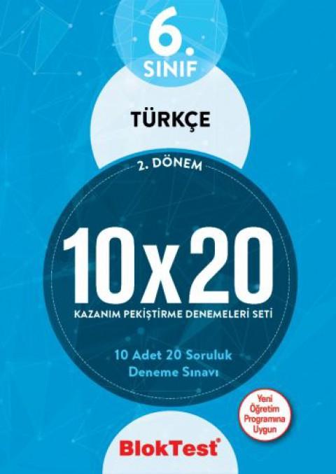 6.Sınıf Bloktest Türkçe 10X20 Kazanım Denemeleri 2. Dönem Bloktest - Tudem