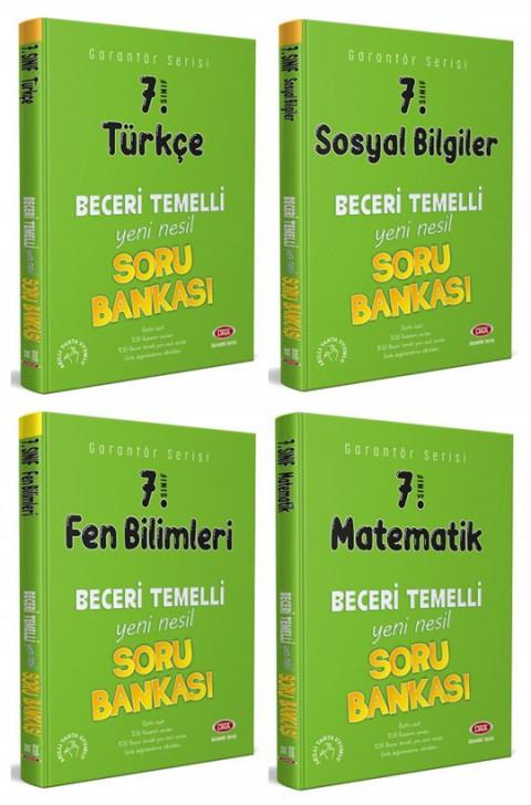 7. Sınıf Garantör Soru Bankası 4'lü Set (Türkçe + Sosyal B. + Fen B. + Matematik) - Data Yayınları