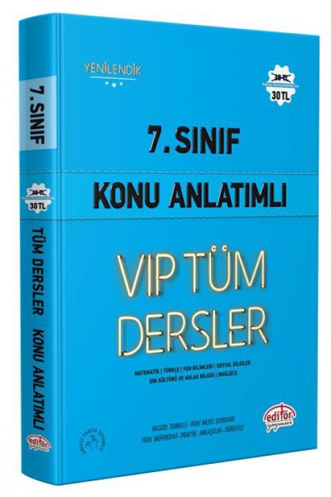 7. Sınıf VIP Tüm Dersler Konu Anlatımlı Mavi Kitap - Editör