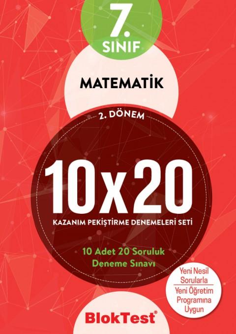 7.Sınıf Bloktest Matematik 10X20 Kazanım Denemeleri 2. Dönem Bloktest - Tudem