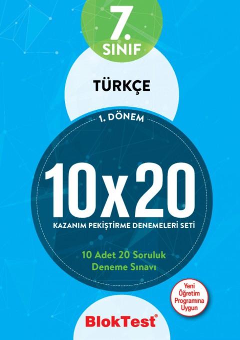 7.Sınıf Bloktest Türkçe 10X20 Kazanım Denemeleri 1. Dönem Bloktest - Tudem
