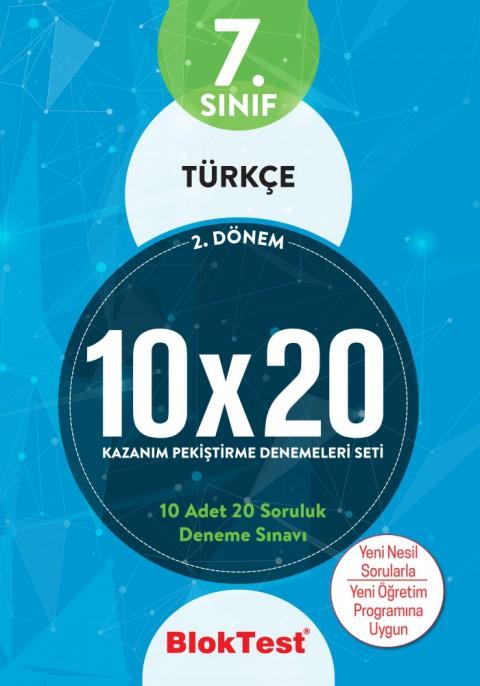 7.Sınıf Bloktest Türkçe 10X20 Kazanım Denemeleri 2. Dönem Bloktest - Tudem