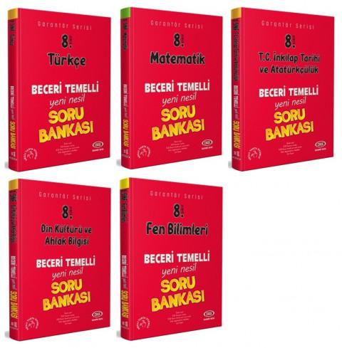 8. Sınıf Garantör Soru Bankası 5'li Set (Türkçe + İnkılap + Fen B. + Matematik + Din K.) - Data Yayınları
