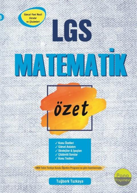 8.Sınıf Matematik Özet Liselere Hazırlık - Pano