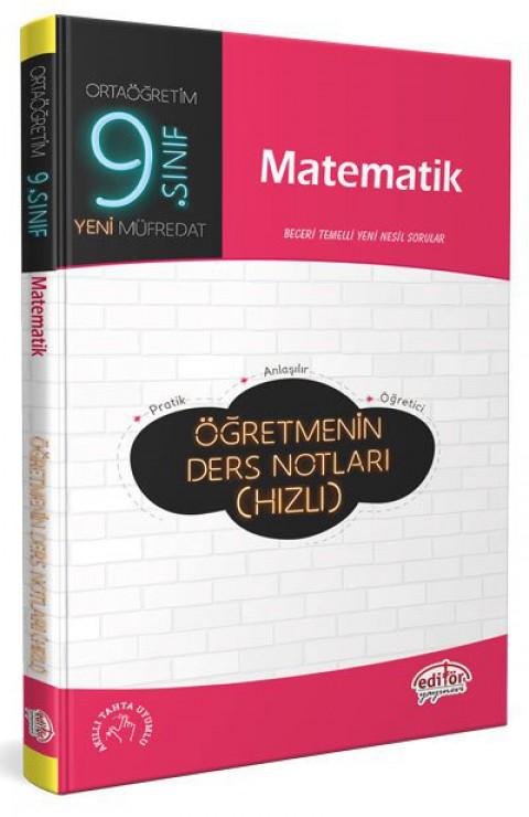 9. Sınıf Matematik Öğretmenin Hızlı Ders Notları  - Editör