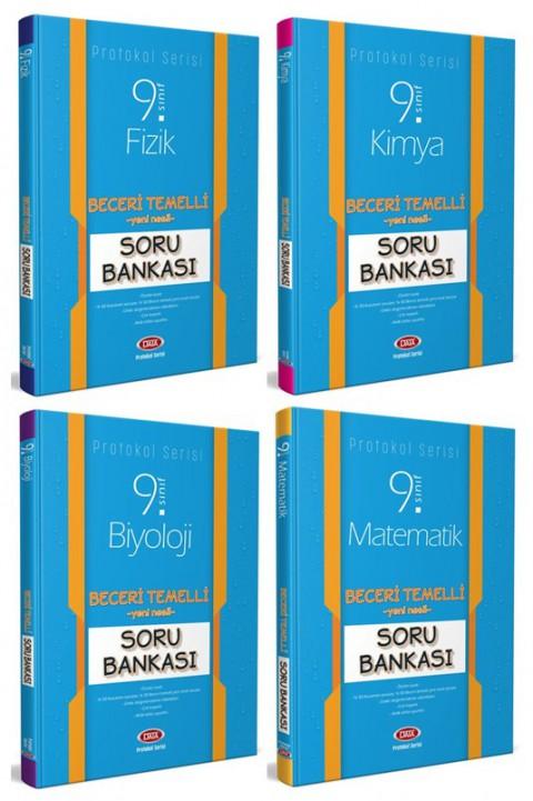 9. Sınıf Protokol 4'lü Sayısal Soru Bankası Seti (Fizik + Kimya + Biyoloji + Matematik) - Data Yayınları