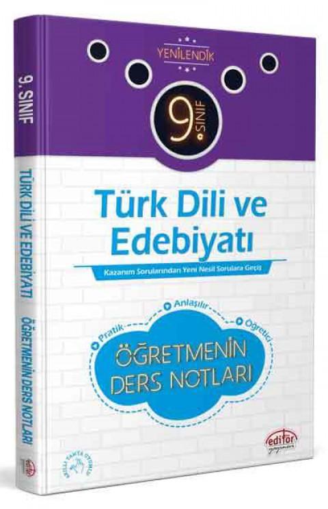 9. Sınıf Türk Dili ve Edebiyatı Öğretmenin Ders Notları  - Editör