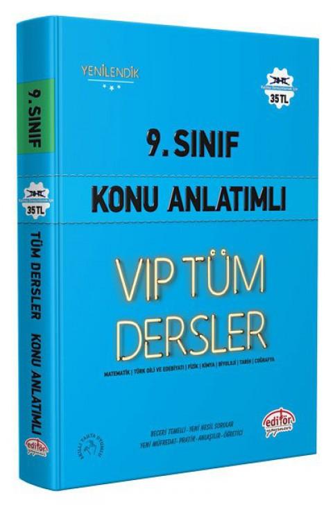 9. Sınıf VIP Tüm Dersler Konu Anlatımlı Mavi Kitap - Editör