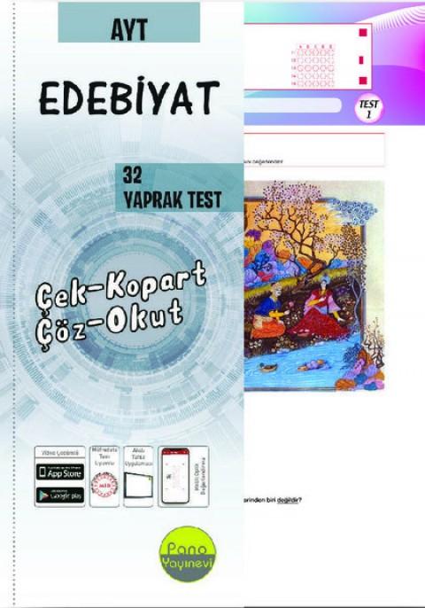 AYT Edebiyat Yaprak Testleri (32 Adet) Çek Kopart - Pano