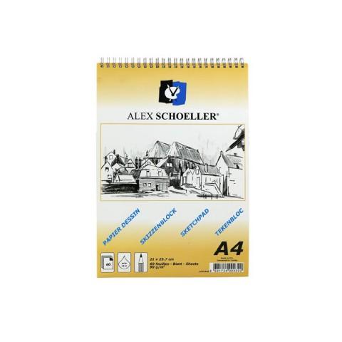 Alex 90gr A4 60 Yaprak Spralli Eskiz Blok