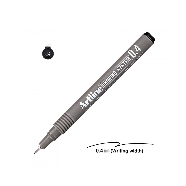 Artline 0.4 Mm Siyah Çizim Kalemi