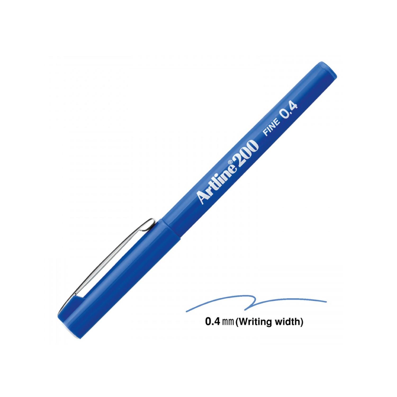 Artline 200 Mavi 0.4 Mm Fine Keçe Uçlu Yazı Kalemi