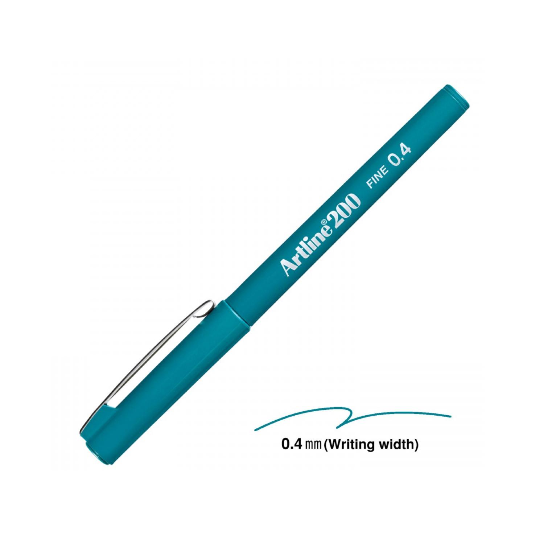 Artline 200 Yeşil 0.4 Mm Fine Keçe Uçlu Yazı Kalemi