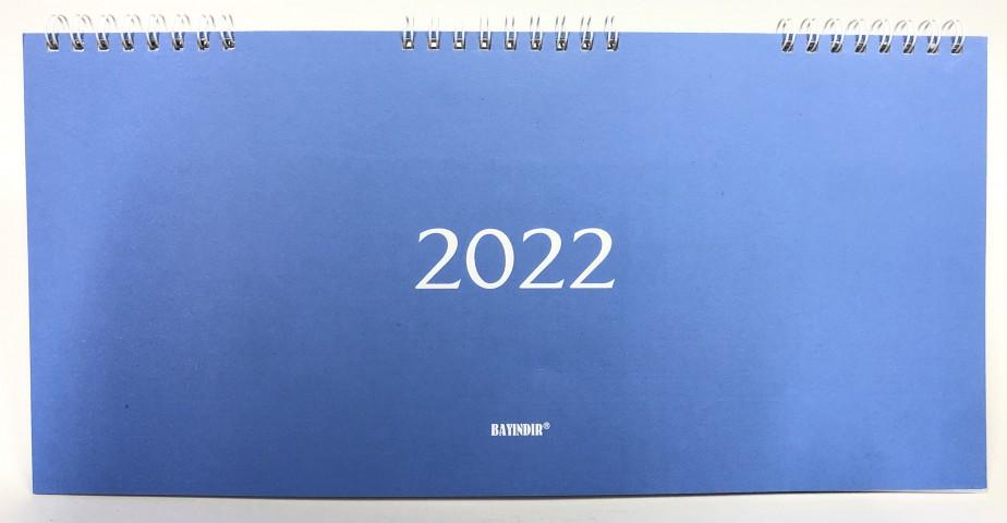 Bayındır 15,5x32,5 2022 Masa Takvimi Haftalık