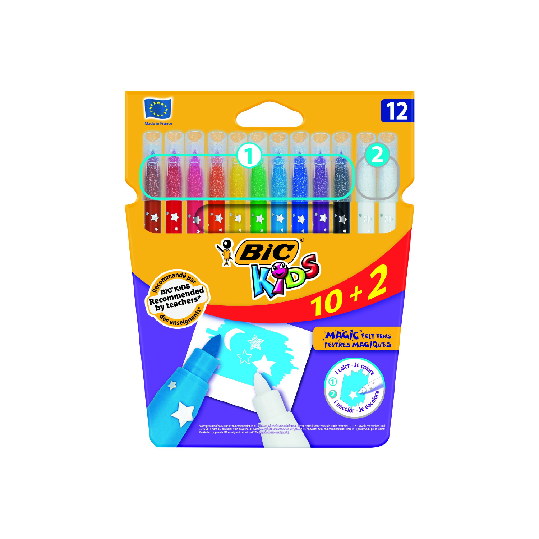 Bic Magic 12 Renk Silinebilir Keçeli Boya Kalemi