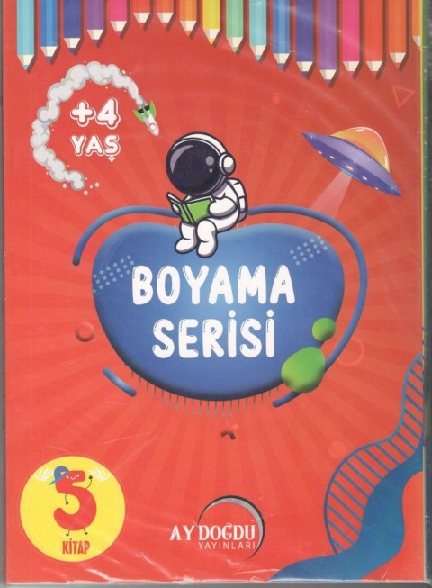 Boyama Serisi 4 Yaş Ay Doğdu Yayınları - Kolektif