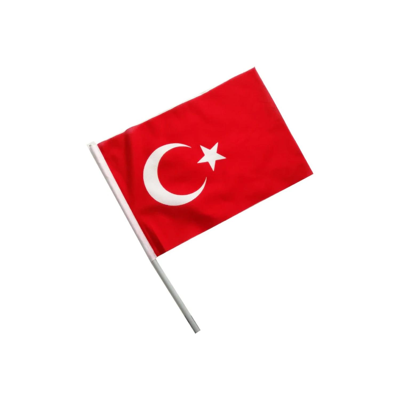 Buket 30x45 Cm Sopalı Alpaka Türk Bayrağı