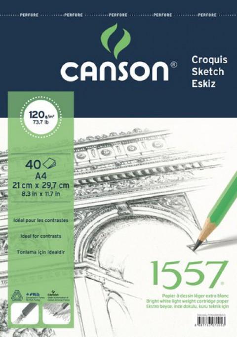 Canson 1557 Resim Blok 120gr A4 40yp Üstten Spr