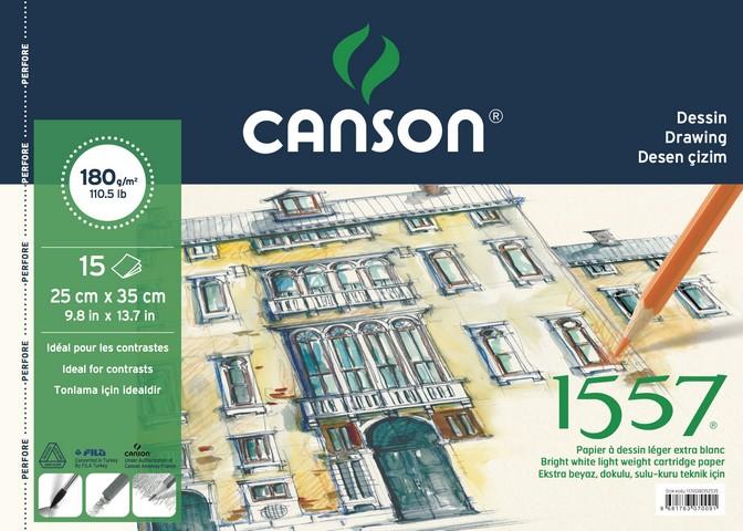 Canson 1557 Resim Blok 180Gr 25*35 15Yaprak Resim De
