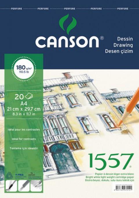 Canson 1557 Resim Blok 180Gr A4 20Yaprak Üstten Spir