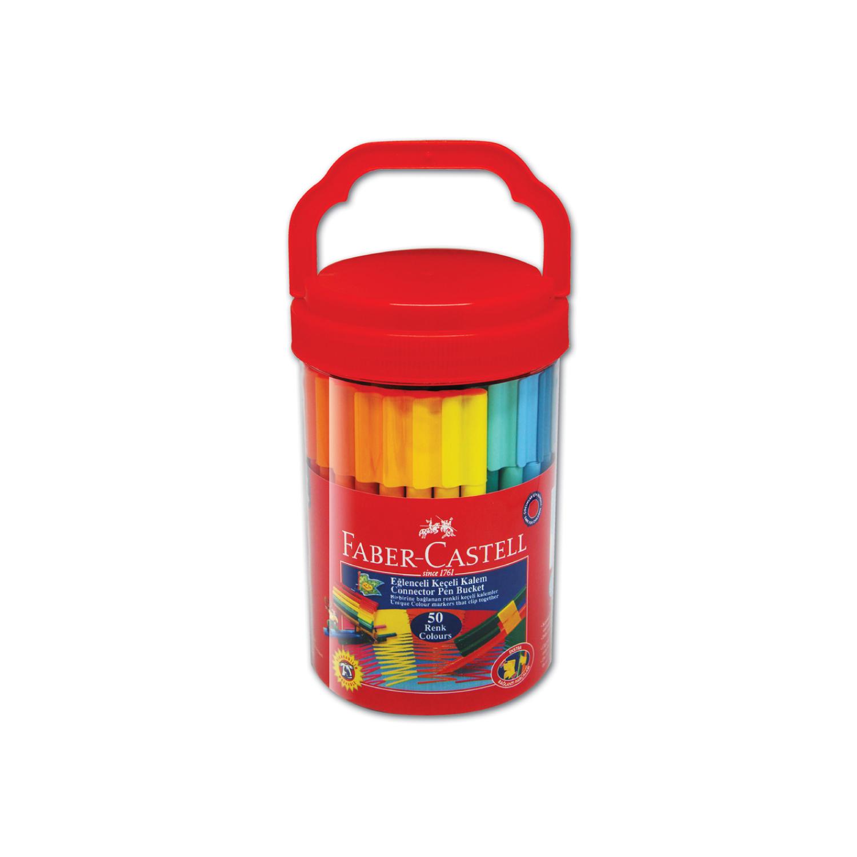 Faber Castell 50 Li Eğlenceli Keçeli Kalem