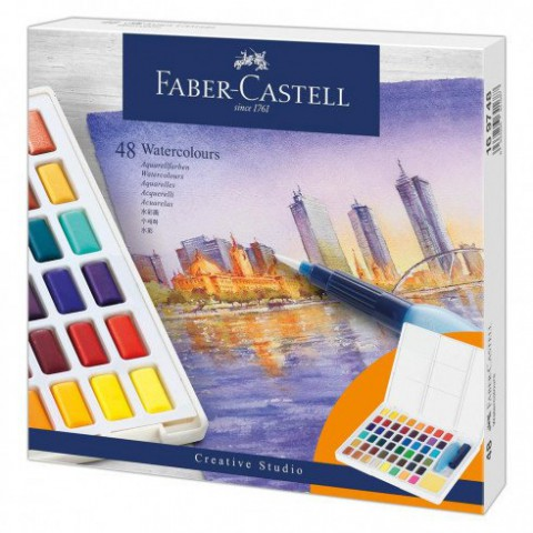 Faber Castell Creative Studio Tablet Suluboya 48 Renk Kutu