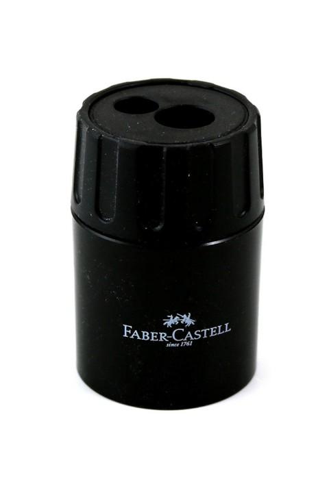 Faber Castell Geniş Hazneli Çiftli Kalemtraş Adet Siyah