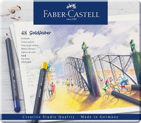 Faber Castell Goldfaber Kuru Boya Kalemi 48 Renk Metal Kutu