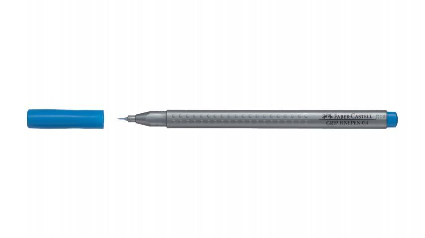 Faber Castell Grip Finepen 0.4Mm, Koyu Mavi