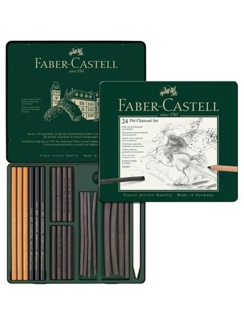 Faber Castell Pitt Charcoal Set İşlenmiş Kömür Seti
