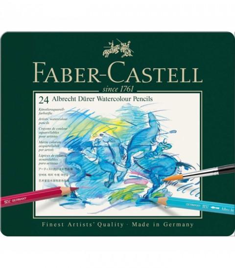 Faber Castell Watercolour Pencils Kuru Sulu Boya Kalemi 24 Renk