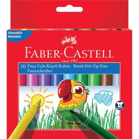Faber-castell Fırça Uçlu Süper Yık Keçeli K 10 Renk Kutu