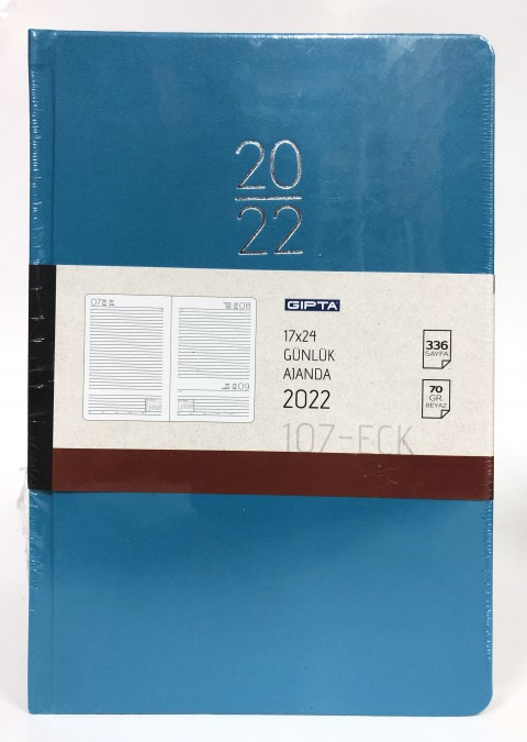 Gıpta 17x24 2022 Günlük Ajanda Mavi 336 Sayfa