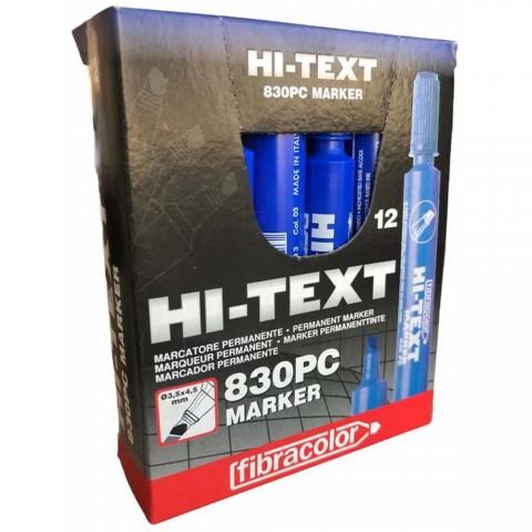 Hi-Text Markör Kesik Uçlu Mavi