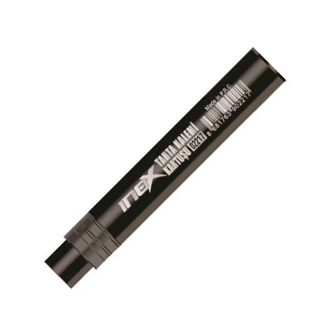 İnox Siyah Tahta Kalemi Kartuşu